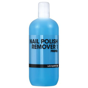 Salon System Polish Remover With Acetone 500ml