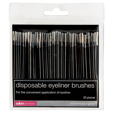 Salon Services Disposable Eyeliner Brushes Pack of 25