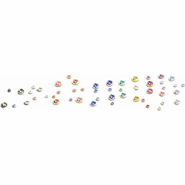 Mad Beauty Mad Beauty Mixed Colour Round Rhinestones Pack of 240