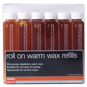 Salon Services Roll On Warm Wax Refills Original Pack of Six 80g