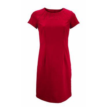 Alexandra Women's Satin Trim Tunic - Red