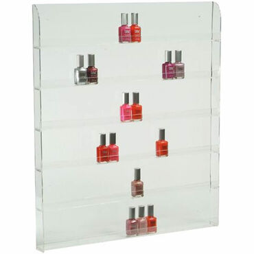 Beauty Express Nail Polish Display Wall Rack For 90 Bottles